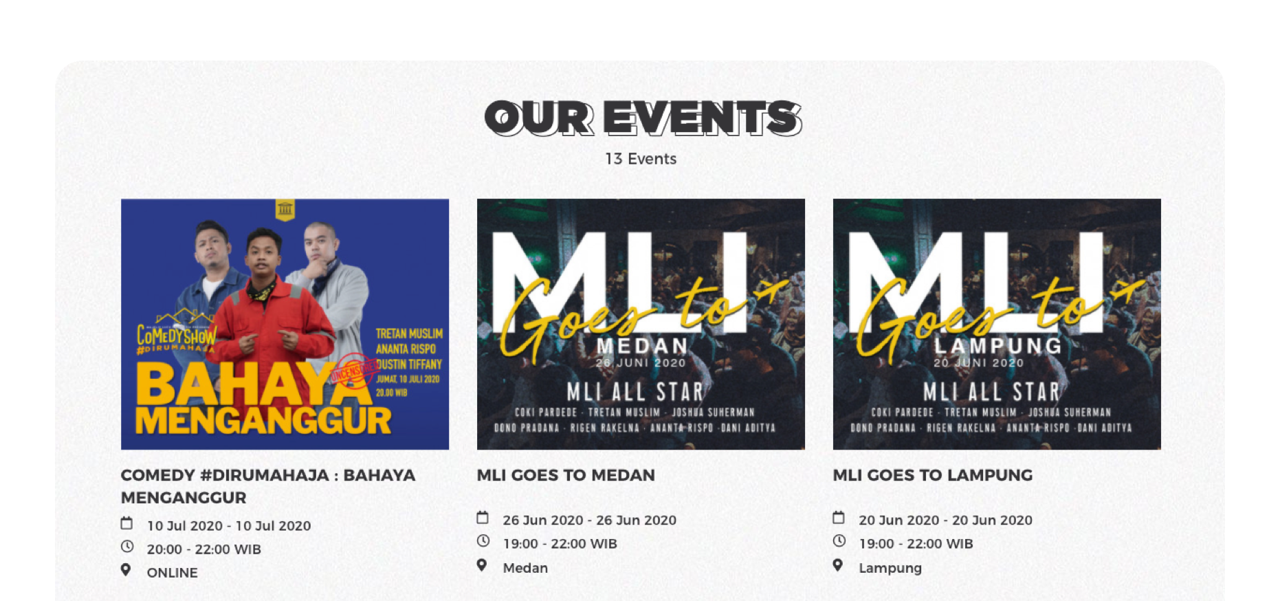 MLI brightens Indonesia by bringing comedy to the next level