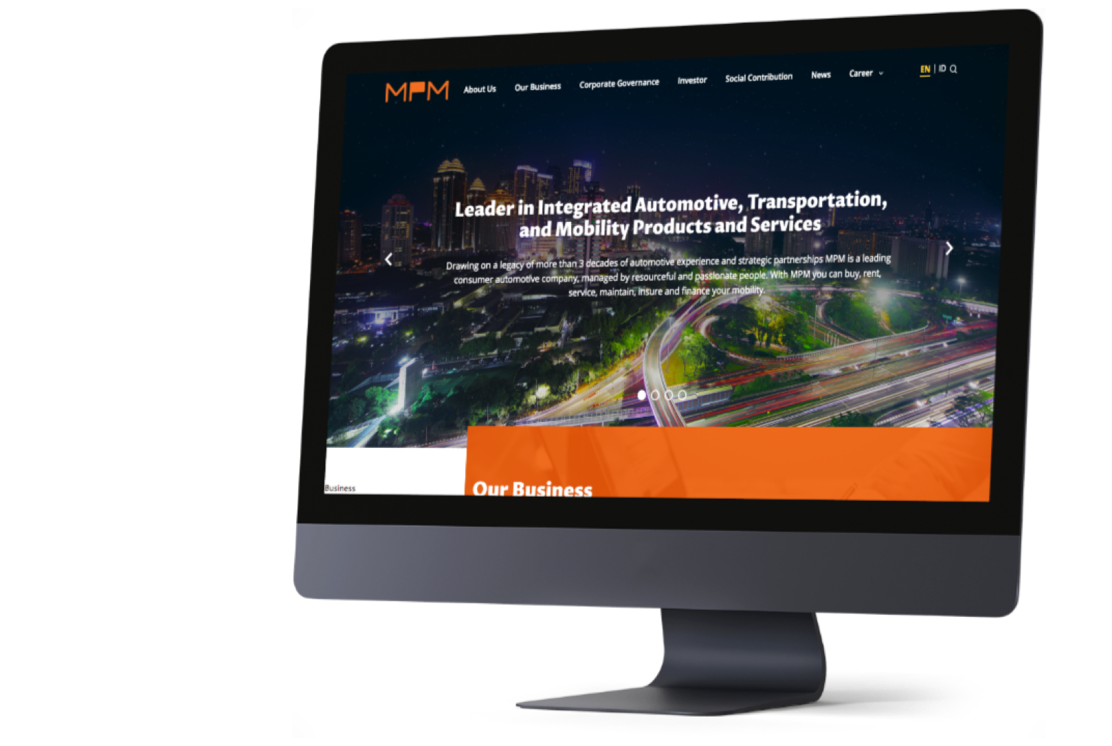 Redesigning MPM Group website for a more charming company profile